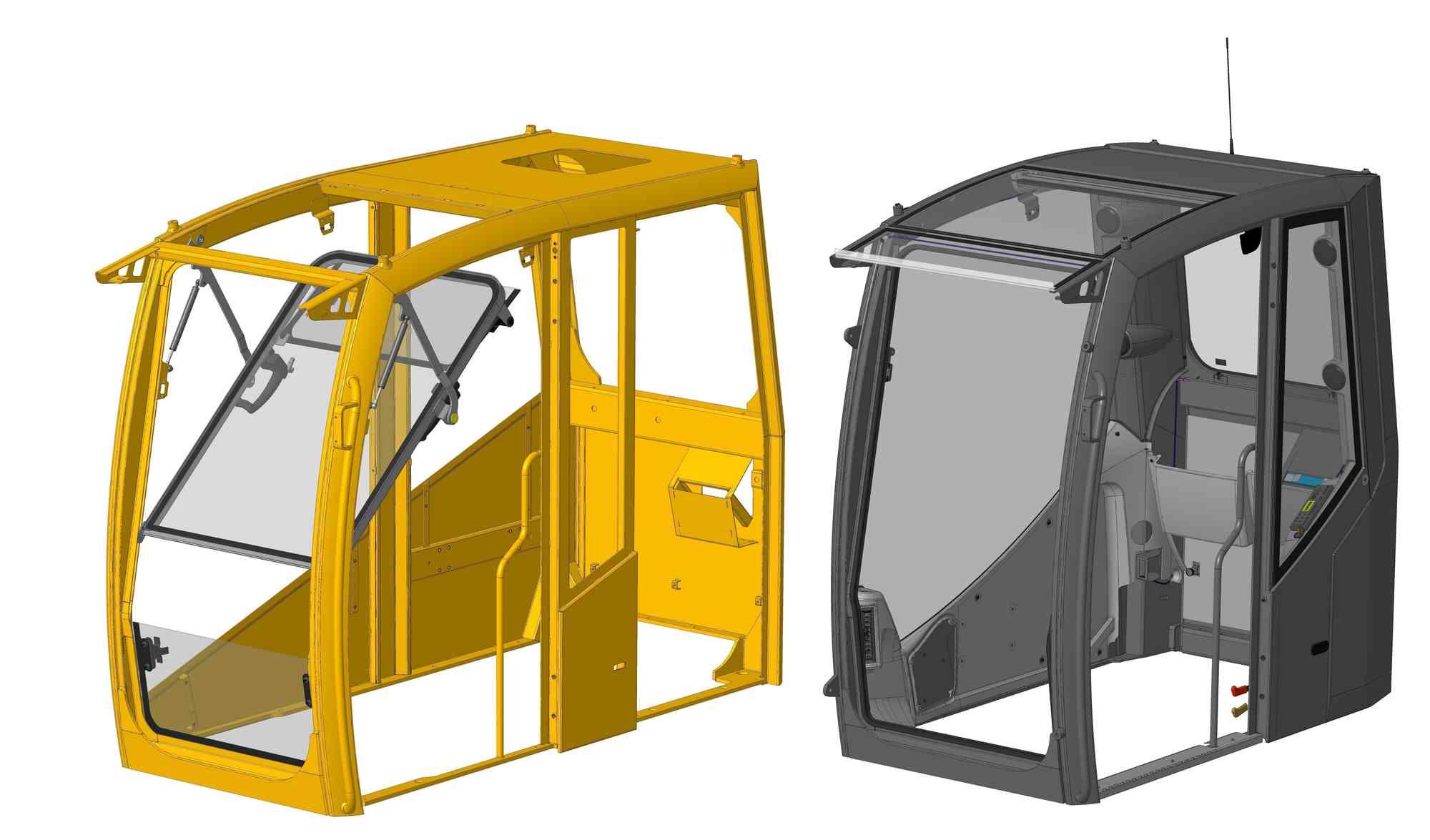 Cabine graafmachine visionengineering for 3d interieur ontwerp